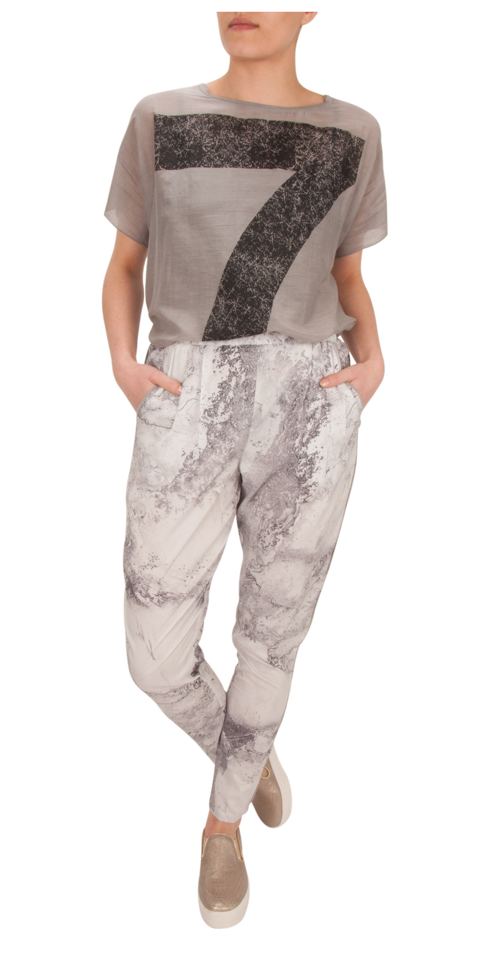 NEW - Surface Print Pants main image