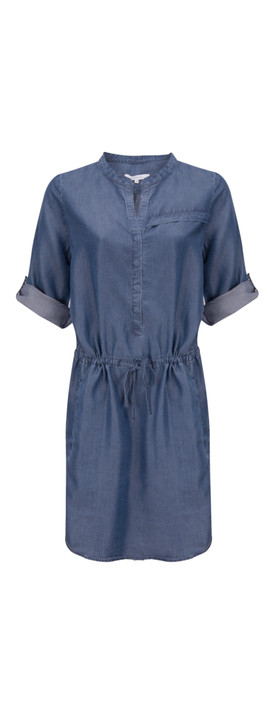 Sandwich Clothing Tencel Chambray Dress Dusty Blue