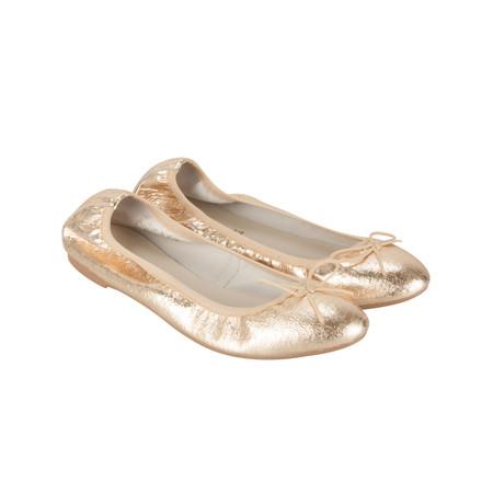 Marco Tozzi Leather Ballet Pump - Metallic