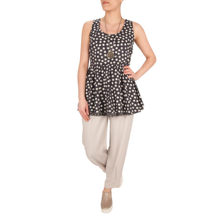 Myrine NEW - Antares Dots Voile Top - Blue