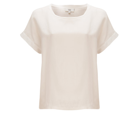 Noa Noa Short Sleeve Embroidered Jersey Top - Off-White