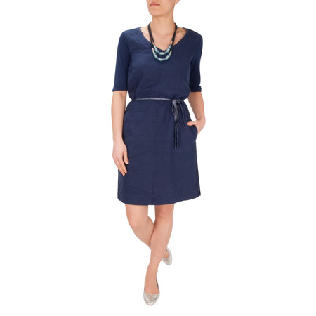 Sandwich Clothing Garment Dye Dress - Blue