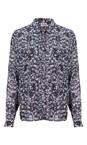 Twist & Tango Blue Flower  Leona Shirt