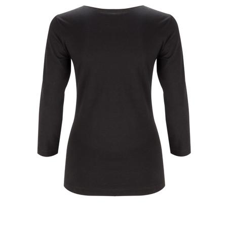 Sandwich Clothing Essential Three Quarter Sleeve T-shirt - Black