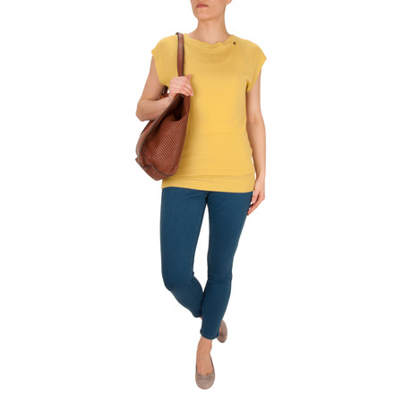 Avoca Back Up Knit Top - Yellow