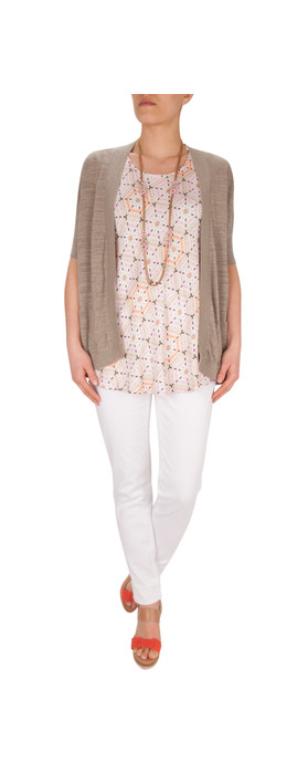 Sandwich Clothing Triangle Mix Top Feather Grey