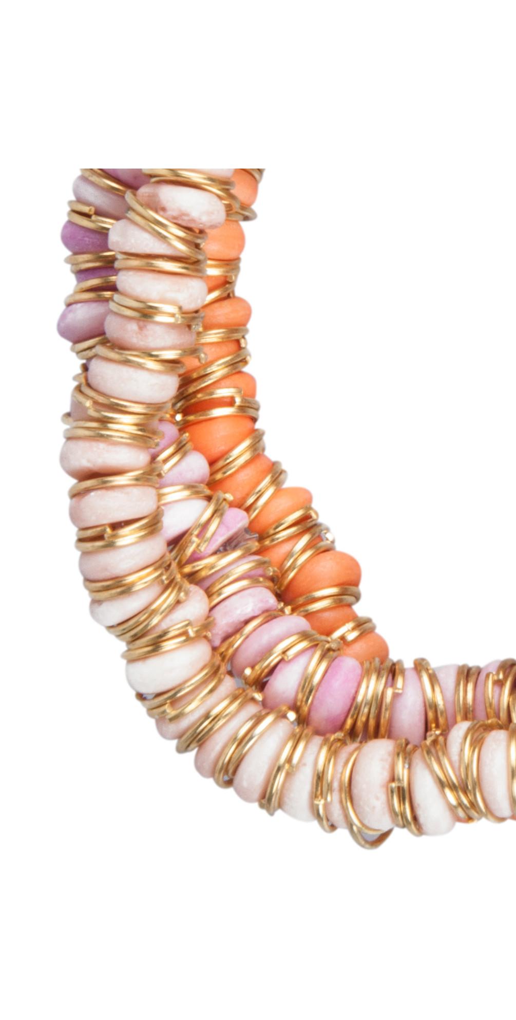 Bone Beads Metal Ring Bracelet main image