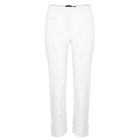 Robell Trousers Bella 7/8 Cropped Trouser  - White