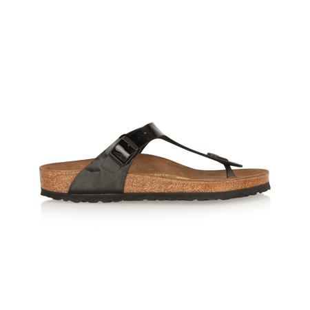 Birkenstock Toe Post Patent Sandal - Black