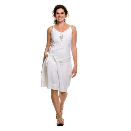 Sandwich Clothing Twisted Linen Dress - White