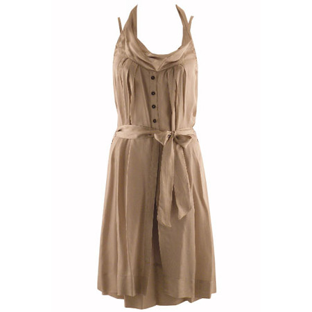 Sandwich Clothing Shiny Slouch Neck Dress - Beige