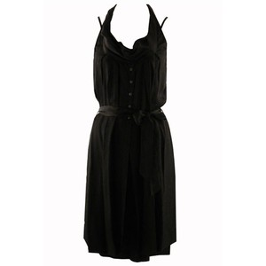 Sandwich Clothing Shiny Slouch Neck Dress
