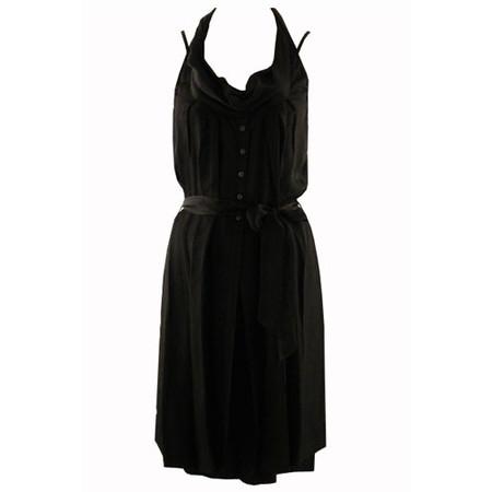 Sandwich Clothing Shiny Slouch Neck Dress - Black