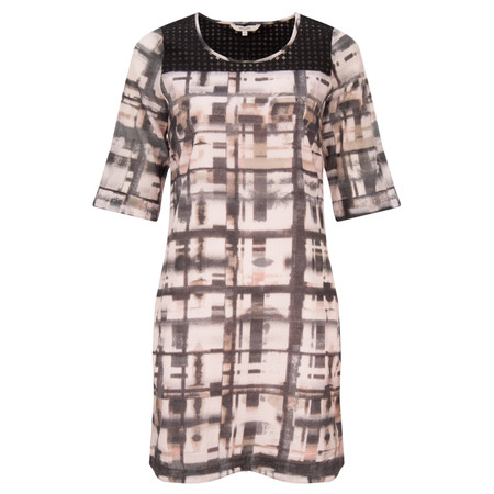 Sandwich Clothing Distorted Check Print Dress - Pink