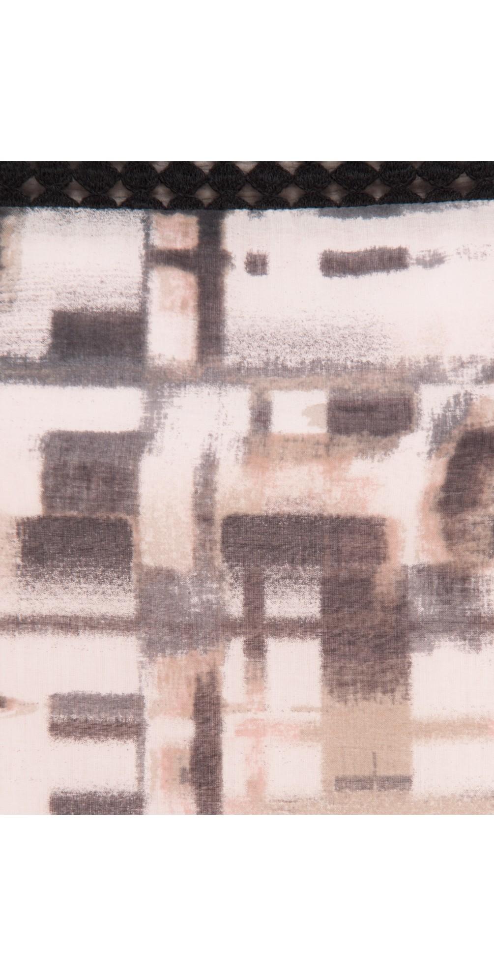 Distorted Check Print Dress main image