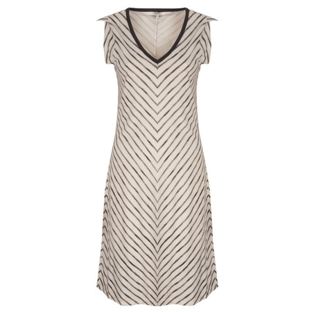 Sandwich Clothing Painted Stripe Printed Dress - Grey