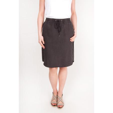 Sandwich Clothing Linen Garment Dye Skirt - Grey