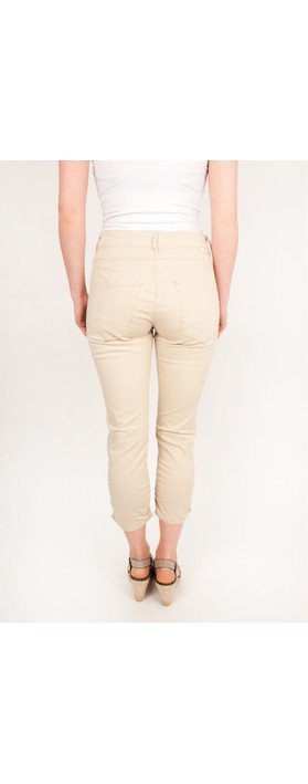 Sandwich Clothing Ruched Skinny Stretch Pants Oatmeal