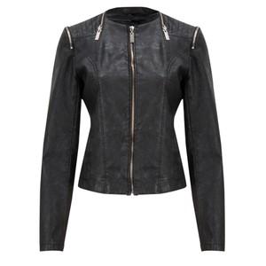 coster copenhagen leather jacket in black. Black Bedroom Furniture Sets. Home Design Ideas