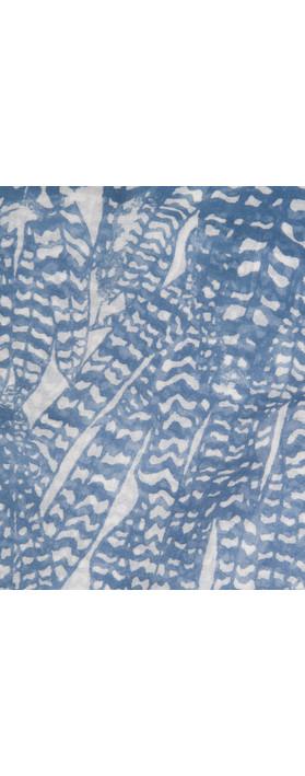 Sandwich Clothing Printed Viscose Scarf Lake Blue