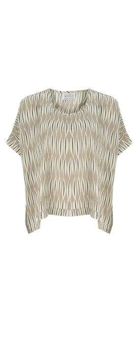 Masai Clothing Els Oversized Top Khaki Print