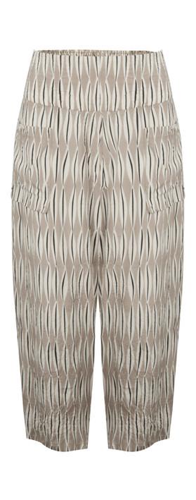 Masai Clothing Pas Culotte Khaki Print