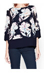 French Connection Nocturnal NEW - Shadow Bloom Tunic Top