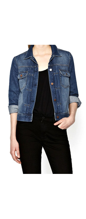 French Connection Western Denim Jacket Mid Vintage
