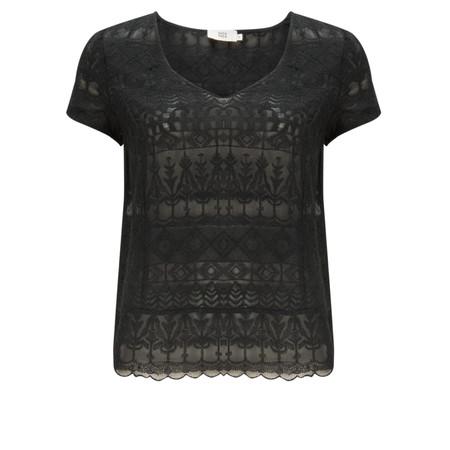 Noa Noa NEW - Kasbah Embroidered Short Sleeve Top - Black