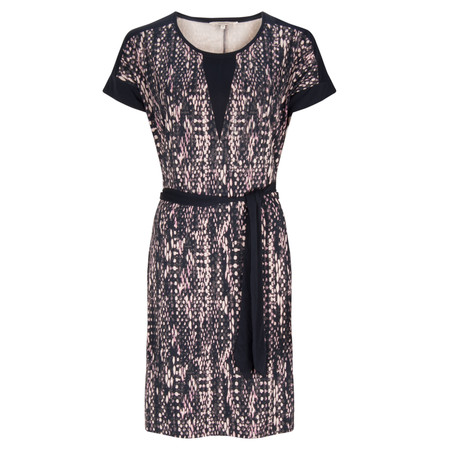 Sandwich Clothing Viscose Structure Print Dress - Blue