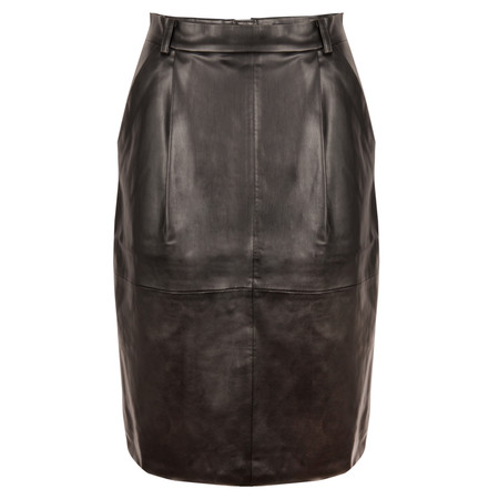 French Connection Patrice Faux Leather Skirt - Black