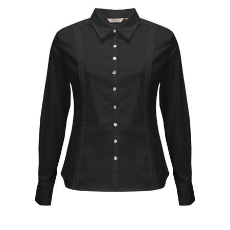 Adini Pearl Poplin Keshi Shirt - Black