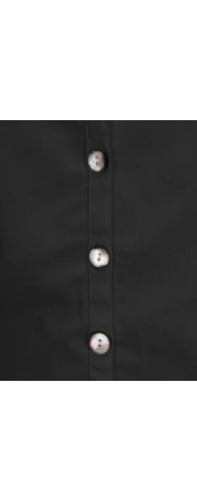 Adini Pearl Poplin Keshi Shirt Black