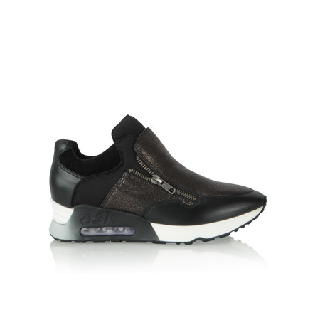 Ash Lenny Zip Trainers - Black