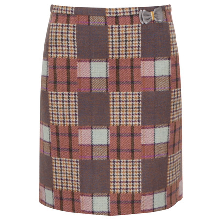 Avoca Chess Short Skirt - Purple