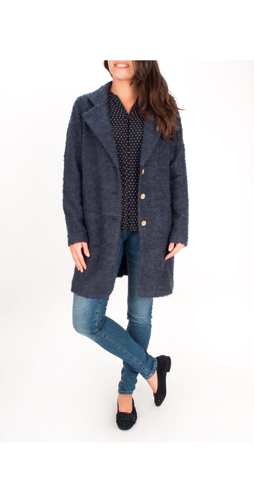 Boucle Long Cardigan Coat main image