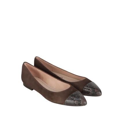 Unisa Shoes Arban Suede Ballet Pump - Grey