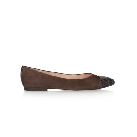 Unisa Shoes Arban Suede Ballet Pump - Grey
