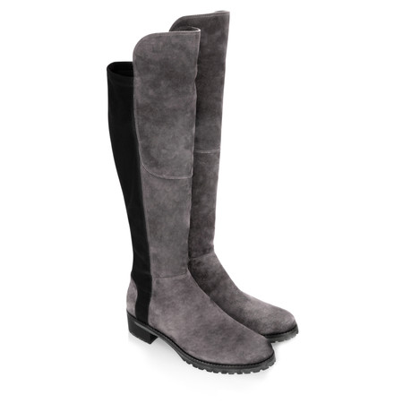 Kennel Und Schmenger Blues Suede Long Flat Boot - Grey