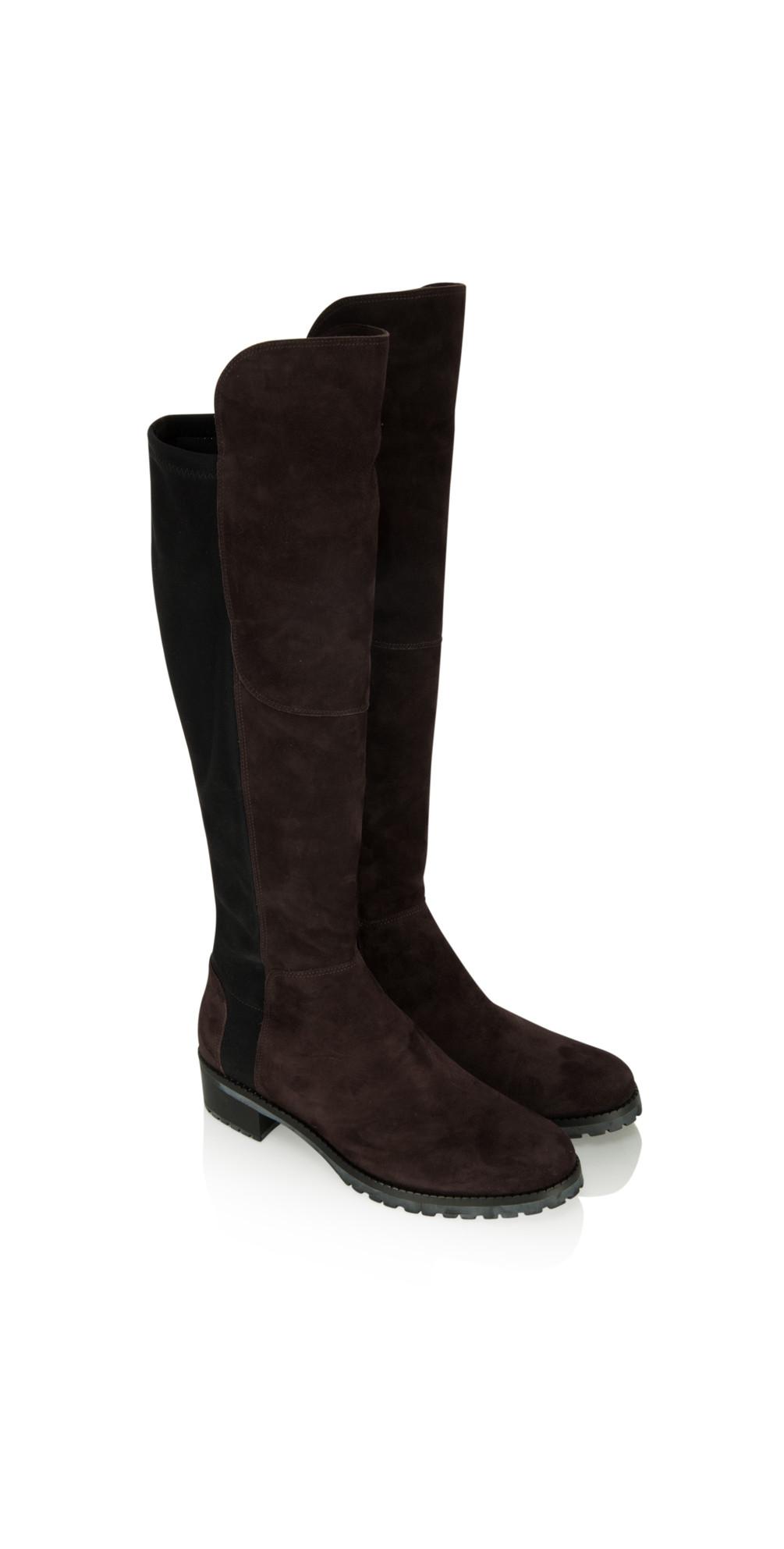 kennel und schmenger blues suede long flat boot in mocca. Black Bedroom Furniture Sets. Home Design Ideas