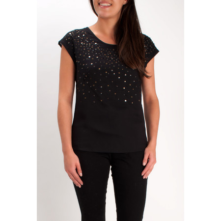 Sandwich Clothing Sequinned Top - Black