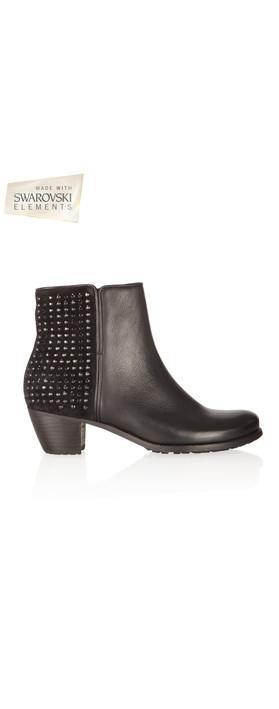kennel und schmenger ambra crystal stud ankle boot in schwarz. Black Bedroom Furniture Sets. Home Design Ideas