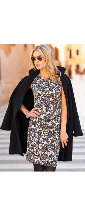Adini Venus Print Mars Dress Champagne