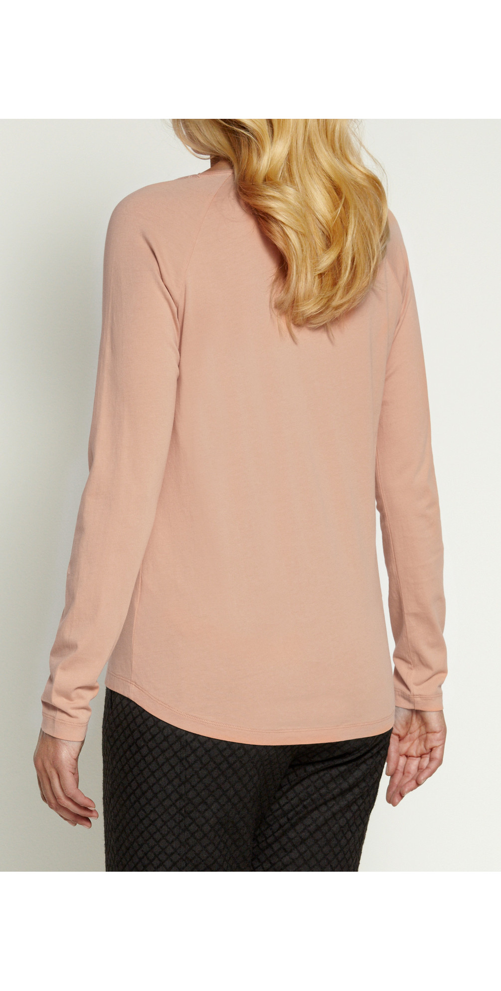 sandwich clothing single jersey top in cameo rose. Black Bedroom Furniture Sets. Home Design Ideas