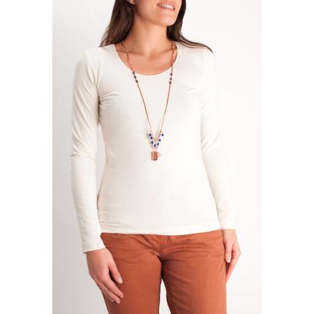 Sandwich Clothing Pendant Beaded Necklace - Orange