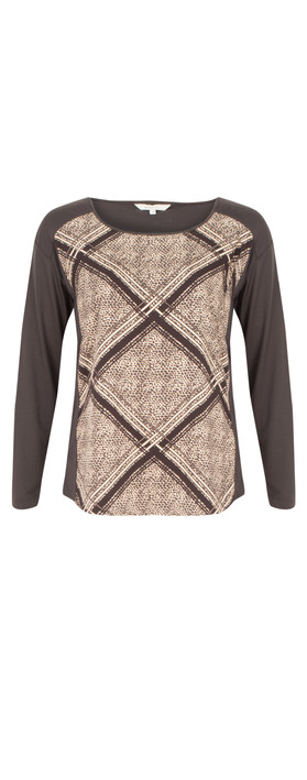 Sandwich Clothing Animal Check Print Top Faded Apricot