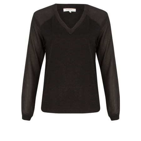Sandwich Clothing Wool Pullover - Black