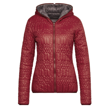 Sandwich Clothing Hooded Shiny Outdoor Jacket - Red