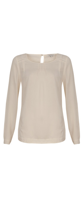Sandwich Clothing Solid Viscose Top Washed Chalk