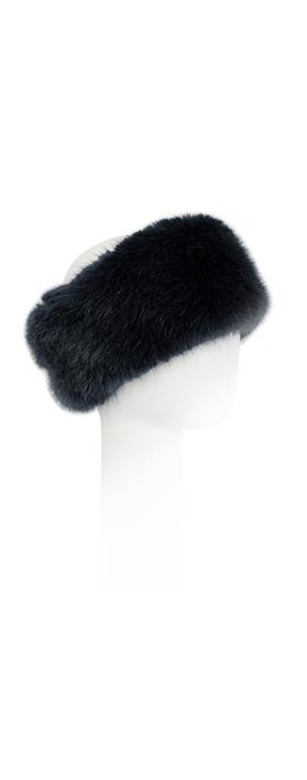 Pia Rossini Monroe Faux Fur Headband Navy